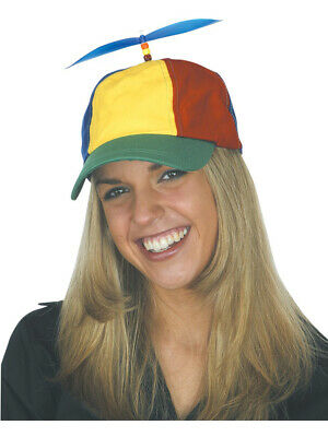 Childs Kids Nerds Multicolored Propeller Hat Cap Costume Accessory