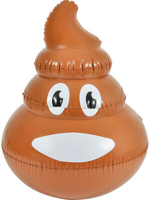 Texting Emoji Brown Poop Emoticon 3D Pool Party Inflatable 24