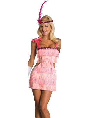 Adult Small Sexy Pink Flapper Girl Costume Dress 6-9 (Flapper Girl Costumes Adults)