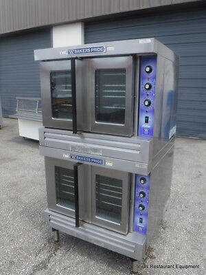 Bakers Pride 455gdc0gn3 Natural Gas Double Stacked Full Size Convection Oven