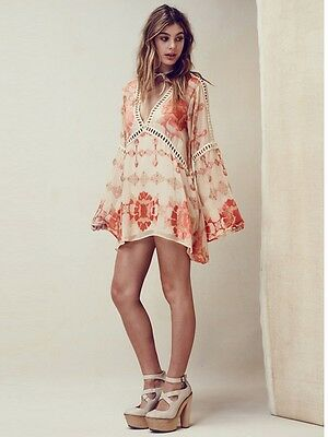 Barcelona Tunic Mini Dress Boho People Bohemian Free Hippie Chic Fashion - Hippy Dress