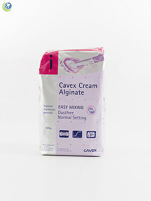 Cavex Cream Dental Alginate Impression Material Dustless Regular Set 500g