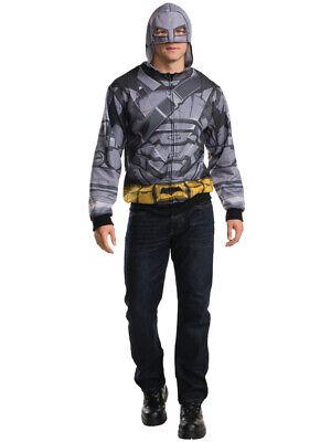 Adult's Mens Armored Batman Dawn Of Justice Hoodie Top Costume