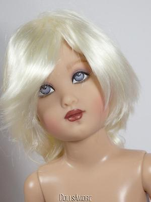 "WHITE BLONDE DOLL WIG SIZE 6/7"" FITS VINTAGE AND MODERN DOLLS"