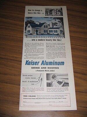 1948 Print Ad Kaiser Aluminum Siding,Roofing Farm House,Barn,Silo Oakland,CA