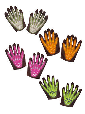 Paar Handschuhe für Kinder Kurz Skelett Knochen Horror - Skelett Handschuhe Für Kinder