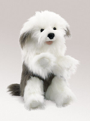 Sheepdog Hand Puppet with Movable Mouth, Folkmanis MPN T2029, 3 & Up