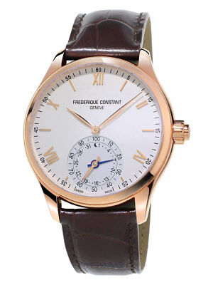 Frederique Constant Men's FC-285V5B4 Quartz Horological Leather Strap 42mm Watch