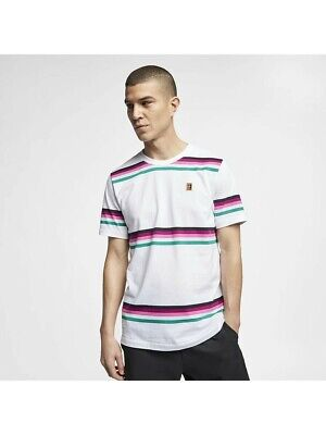 Nike Court Hit It Loud T-Shirt AA0847-063 New Men/'s Heather Grey Tennis Shirt