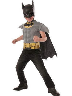Child's Boys Batman Grey Comic Book Superhero Muscle Chest - Superhero Costume Kid