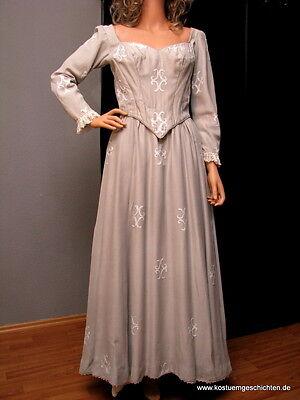 Barockes Theaterkleid grau Theaterkostüm Fundusverkauf Theaterfundus Kleid