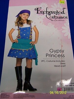 2 pc. Gypsy Princess Blue Pirate Wench Girl Dress Up Halloween Child Costume](Children's Gypsy Halloween Costumes)