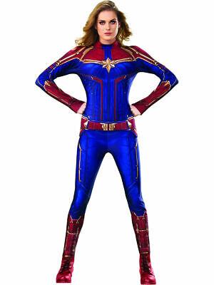 Damen Captain Marvel Geheimnis Wünsche Hero Anzug Kostüm - Offiziell Lizenziert