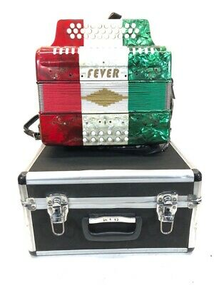 FEVER BUTTON ACCORDION (RED,WHITE,GREEN) W/ CASE (CMP029345)