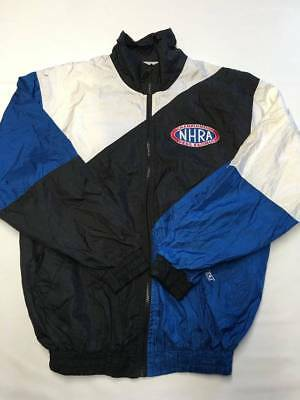 Mens DELONG Multicolor Vintage NHRA Drag Racing Jacket Sz S (Drag Racing Jackets For Men)