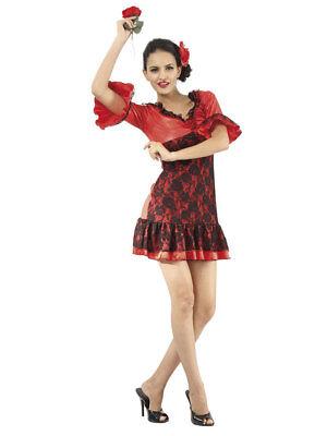 Kostüm superluxe spanische Tänzerin Esperanza (M) Karneval Fasching Minikleid