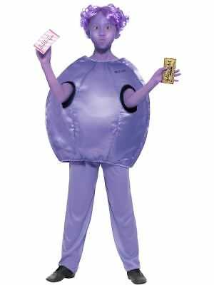 Kids Girls Official Roald Dahl Violet Beauregarde Fancy Dress Book Week Costume - Willy Wonka Female Costume