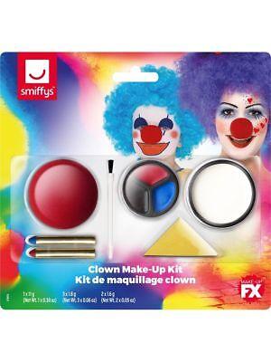 p Gesichtsbemalung Nase Crayons Sponge Satz Smiffys (Clown Halloween Gesicht Make-up)