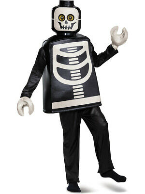 Child's Boys Deluxe Iconic LEGO® Skeleton Minifigure Costume