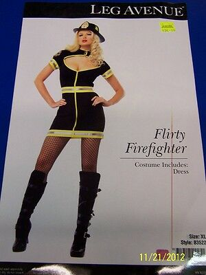 Flirty Firefighter Woman Girl Dress Up Halloween Sexy Adult Costume 2 COLORS