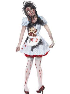 Horror Zombie Landmädchen Dirndl Halloween (Halloween Dirndl Kostüm)