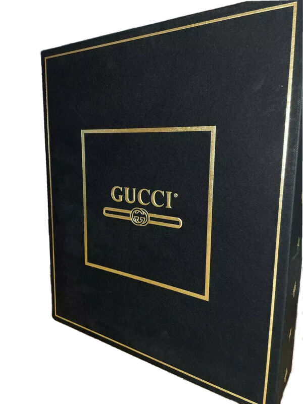 """Authentic Gucci Gift Box Black Gold Star GG 14,9x12,5x3,3"""" Limited 2020 jeans"""