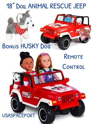 """18"""" Doll Remote Control ANIMAL RESCUE JEEP +DOG for My Life as American Girl Boy"""