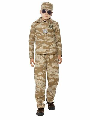Boys Desert Camo Army Costume Military Camouflage Halloween Outfit Kids Child L - Army Halloween Costumes Kids