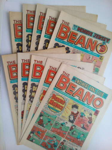 10 x BEANO COMICS from the 1980s Vintage Collectable * Best Value *