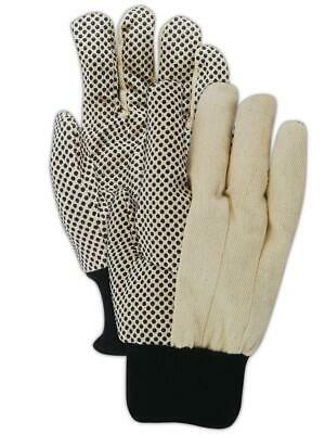 Magid Multimaster Pvc Dotted Mens Canvas Gloves 12 Pairs