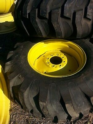 One Wheel Only 15x24 16.9x24 17.5x24 19.5lx24 R4 Titan Deere Tractor Wheel
