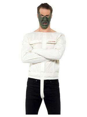 Men's Crazy Lunatic Serial Killer Straight Jacket Fancy Dress Costume Stag Theme](1980s Themed Halloween Costumes)