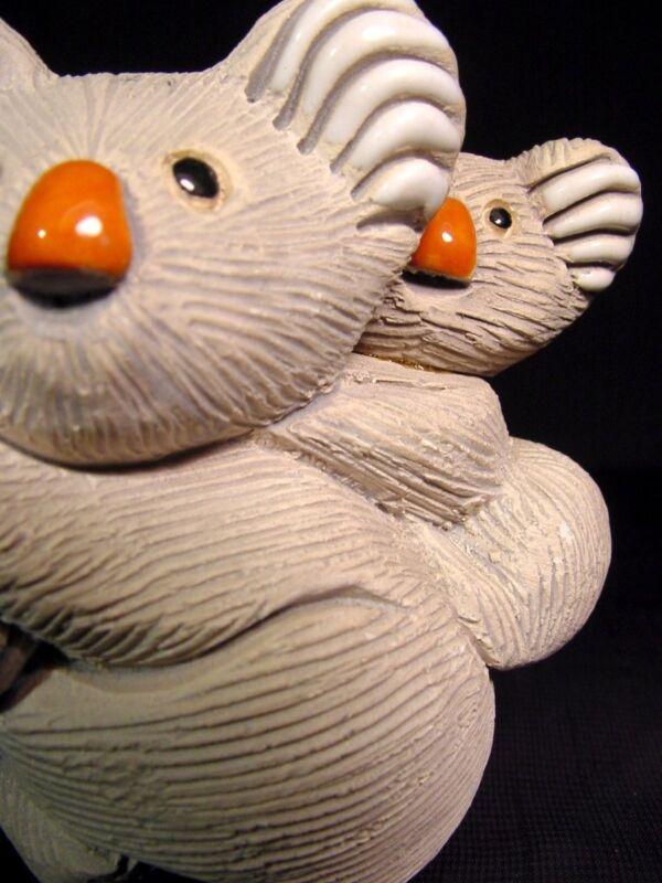 Artesania Rinconada Classic # 78 Koala With Baby Ceramic Figurine Signed