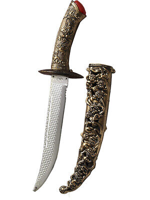 Medieval Fantasy Ornate Assassin Dagger With Sheath Toy Costume Accessory - Costume Dagger