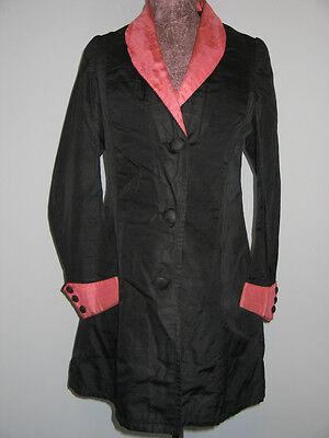 Antique vtg 1900s Ladies VICTORIAN Edwardian Walking Suit Jacket-Coat SILK