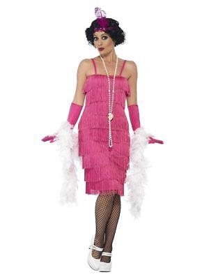 NEW Pink Flapper Roaring 20's Sexy Jazz - Twenties Ladies Fancy Dress - Roaring Twenties Dresses Flappers