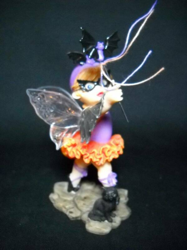 "Scarce Enesco Little Kitchen Fairie ""Bat Ballerina Fairie"" #4018025"
