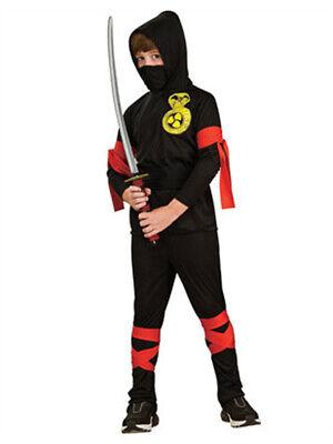 Boys Samurai Costume (Boys Black Ninja Samurai Warrior)