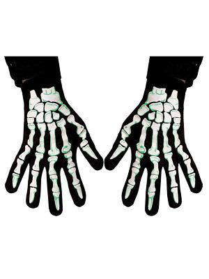 Paar Halloween Handschuhe Skelett Fasching Karneval - Halloween Paar
