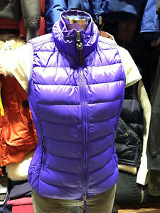 PARAJUMPERS-ITALY-DODIE-WOMEN-039-S-LIGHT-DOWN-VEST-GENUINE-BLUE-YELLOW-RED