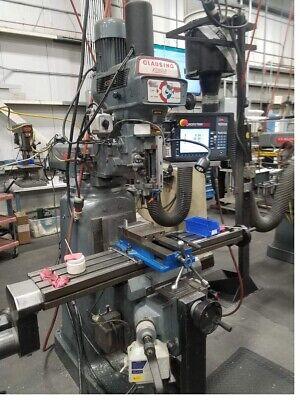 Clausing Kondia Vertical Knee Mill Proto Trak Smx 2 Axis Control - Scales