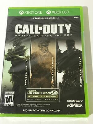 Call of Duty Modern Warfare Trilogy Xbox One & 360  Brand New Sealed