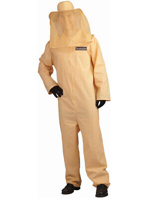 Adult Large Unisex Tan Full Body Bee Keeper Costume