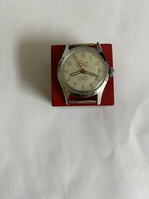 NOS Vintage gents  LUNESA mechanical watch swiss made 1940s Military style