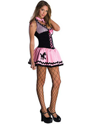 Women's Sexy Adult Hot Rod 50s Sock Hop Poodle Skirt - Hot Rod Costume