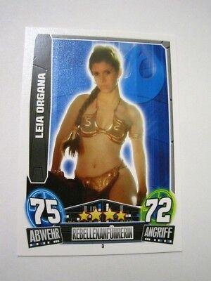 STAR WARS FORCE ATTAX PRINCESS LEIA ORGANA GERMAN EURO VARIANT SLAVE RARE HOT - Princess Leia Slave Hot