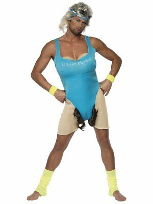 Let Get Physical Halloween Costume (Let's Get Physical Work Out Costume Adult Unisex Workout Bodysuit Retro 1980s)