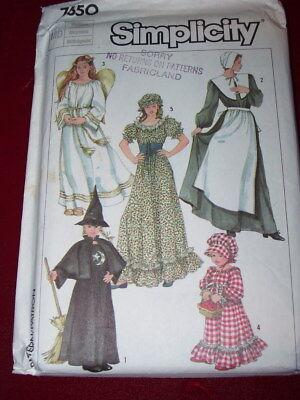 SIMPLICITY #7650 - LADIES COLONIAL-PILGRIM-FRONTIER DRESS & HATS PATTERN 14-16FF - Female Pilgrim Hat