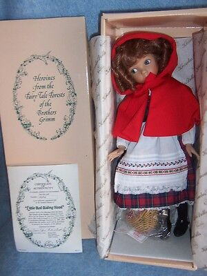 "1988 Red Riding Hood, 14"" Porcelain doll by Dianna Effner"