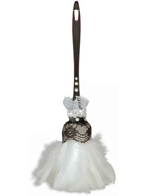 French Maid Duster (Sexy French Maid Costume Accessory White Feather)